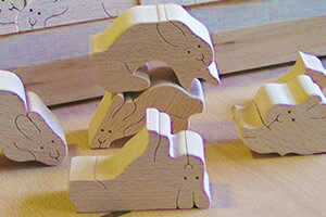 BunnyJigsawPuzzleWoodenToys(GingaKoboToys)Japan
