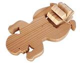 【名入れ可】スイミングベイビー (水陸両用木のおもちゃ 遊びすぎて湯冷めにご用心!)陸上では輪ゴムを2本使うのがおススメお風呂で遊ぶ時は輪ゴムを1本に 水遊び 6ヶ月 7ヶ月 8ヶ