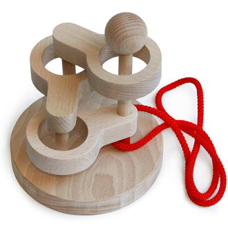 Three-dimensional torus knot (3 Dan) ( wood used Japan-made domestic head Toys Gifts too please! ) to brain training puzzle educational toys birth celebration Interior good ♪ wood puzzle