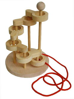 In the three-dimensional torus knot (6 stops) made in Japan head to use wood toys gift please! ) (to the brain training puzzle educational toys birth celebration Interior good! ) domestically produced wood puzzle