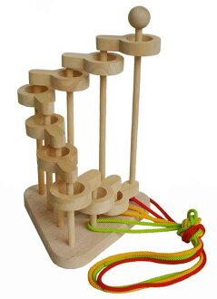 三維環面結 (第 9 次丹) 超級難解的困惑日本制玩具拼圖益智玩具腦 Tre 木拼圖 1 年 2 年 3 年 4 年生日禮物出生 5 歲 6 歲 7 歲 8 歲嬰兒兒童老人小學慶祝誕生慶祝字串類型通過和無木家族樹的字串成長家庭設施滯後預防