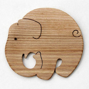 ■ elephant-the coaster Japan made playful wood (wood toys educational toys birth celebration interior is also good! ) animal toys