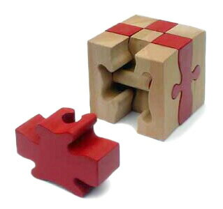 Monkey Puzzle (9 Pieces) Wooden Toys (Ginga Kobo Toys) Japan