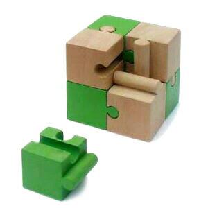 Monkey Puzzle (8 Pieces) Wooden Toys (Ginga Kobo Toys) Japan