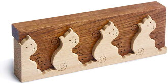 Interlocking Kitties Wooden Toys (Ginga Kobo Toys) Japan