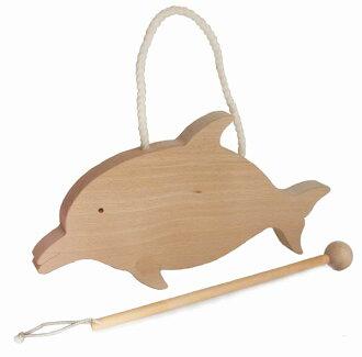 DOLPHIN GONG Wooden Toys (Ginga Kobo Toys) Japan