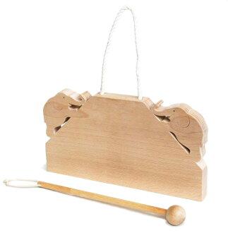 Elephant Gong Wooden Toys (Ginga Kobo Toys) Japan