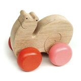 【名入れ可】●かたつむり(押しぐるま 愉快で楽しい木のおもちゃ 日本製 )押し車 カタカタ 知育玩具 誕生祝い 赤ちゃんおもちゃ おしぐるま 6ヶ月 1歳 2歳 3歳 誕生日ギフト