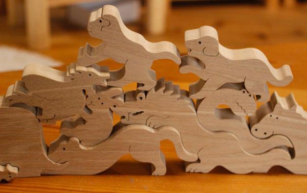 名入れ可12支物語(木のおもちゃ干支)動物積み木知育玩具2歳3歳4歳5歳〜男の子女の子積み木パズル型