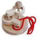 [立体知恵の輪](2段)大人気 頭を使う木のおもちゃ 見て触って考えて五感に働きかける玩具です。知育玩具 インテリアにもgood♪●立体知恵の輪(2段)木のおもちゃ脳トレパズル 頭脳活性  Wooden toys puzzle 2P13Apr09
