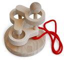 [立体知恵の輪](3段)大人気 頭を使う木のおもちゃ 見て触って考えて五感に働きかける玩具です。脳トレ 知育玩具 インテリアにもgood♪●立体知恵の輪(3段)木のおもちゃ脳トレパズル  Wooden toys puzzle  2P13Apr09