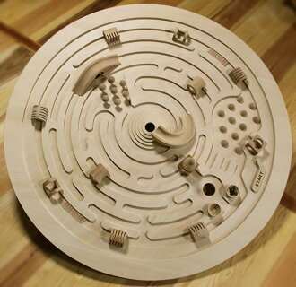 SWIVELING LABYRINTH Wooden Toys (Ginga Kobo Toys) Japan