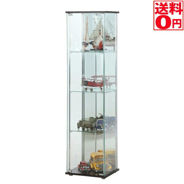 入荷しました【送料無料】 ガラスコレクションケース4段(背面ミラー付き) BR 96046