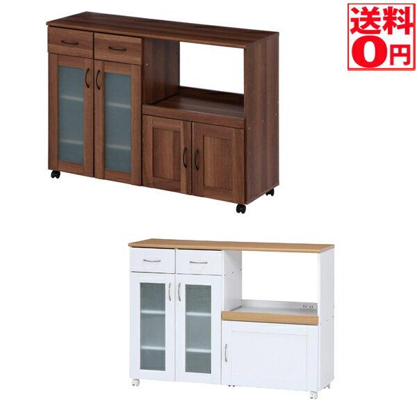 【送料無料】キッチンカウンター サージュ WH×NA 120幅 96820