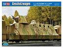 【中古】ホビーボス 1/72 ファイティングヴィークルシリーズ ドイツ軍 装甲列車編成 BP-42/砲車 プラモデル 82923