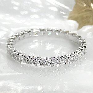 ダイヤモンド フルエタニティリング プラチナ ホワイト