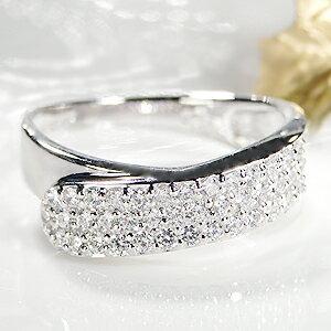 pt900ダイヤモンド パヴェ リング【0.5ct】【送料無料】【刻印無料】【品質保証書付】