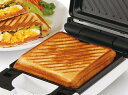 着脱式 シングル ホット サンド メーカー 約3分 サクッと パンの耳 まで 焼ける! 朝食 調理家電 朝 ごはん ランチ 食パン 簡単 時短 メニュー