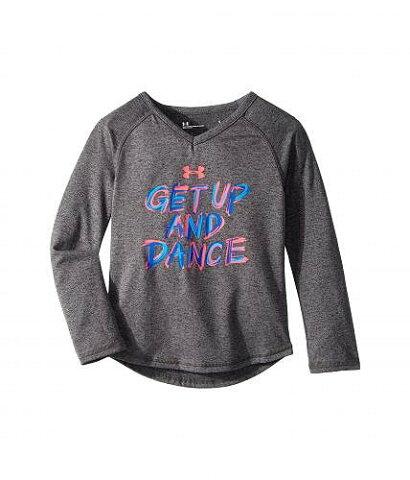 Under Armour Kids アンダーアーマー 女の子用 長袖 ファッション 子供服 Tシャツ Under Armour Kids アンダーアーマー Get Up and Dance Long Sleeve (Little Kids) - Carbon Heather