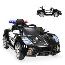 Best Choice Products ベスト チョイス プロダクト 12V 2-Speed キッズ 子供 パトカー On w/ AUX Port Parent Control Working Inter..