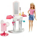 Barbie Salon Station Furniture Set with Doll & Accessories Blonde バービーグッズ 人形・グッズ【送料無料】【代引不可】【あす楽不可】