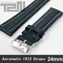 Aeromatic 1912 (エアロマティック1912) A-Band-L-BK-22A 純正 替えベルト 22mm レザーベルト ブラック 腕時計 【あす楽対応】