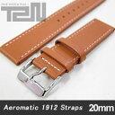 Aeromatic 1912 (エアロマティック1912) A-Band-L-BR-20A 純正 替えベルト 20mm レザーベルト ブラウン 腕時計 【あす楽対応】