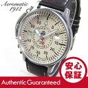 【正規品】 エアロマティック 1912 ドイツミリタリー メンズ 自動巻き リューズガード GM ブラウン 腕時計 A1394