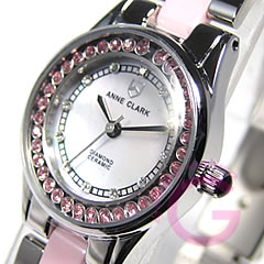 ANNE CLARK (Ann Clark) AM-1024-17/AM1024-17 rhinestone pink lady Swatch watch