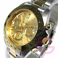 DON CLARK (Dan Clark) DM-2051-01GS/DM2051-01GS chronograph gold combination men watch watch