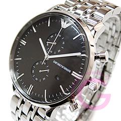 Classic metal belt chronograph Black Watch AR0389 EMPORIO ARMANI ( Emporio Armani )