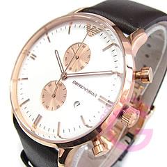 Classic leather belt chronograph pink gold watch ar0398 EMPORIO ARMANI ( Emporio Armani )