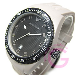 EMPORIO ARMANI ( Emporio Armani ) AR1037 sport rubber belt grey casual mens watch