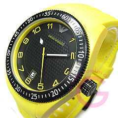 EMPORIO ARMANI ( Emporio Armani ) AR1040 sport rubber belt yellow casual men's watch