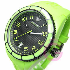 EMPORIO ARMANI ( Emporio Armani ) AR1046 sport rubber belt green casual men's watch