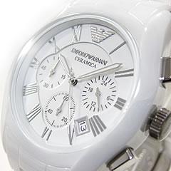 EMPORIO ARMANI ( Emporio Armani ) AR1403 CERAMICA, Ceramica ceramic chronograph white mens watch