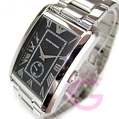 EMPORIO ARMANI ( Emporio Armani ) AR1608 classic small second metal belt black mens watch