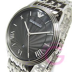 New retro stainless steel belt Black Watch EMPORIO ARMANI ( Emporio Armani ) AR1614
