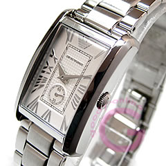 EMPORIO ARMANI ( Emporio Armani ) AR1639 classic small second metal belt silver ladies watch watches