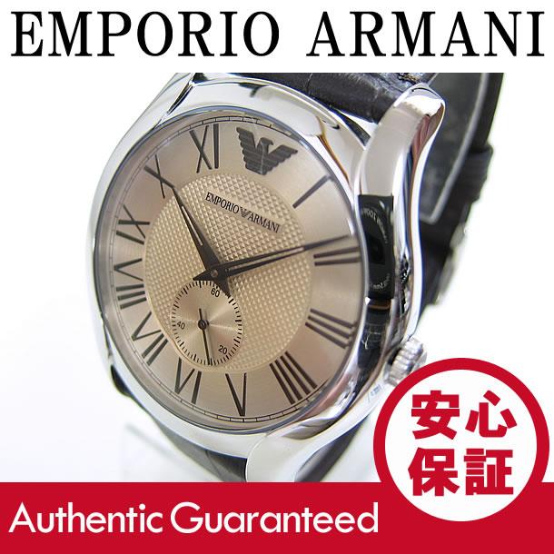 EMPORIO ARMANI (エンポリオ アルマーニ) AR1704 Valente/バレンテ レザーベルト ゴールドダイアル メンズウォッチ 腕時計 【無料ラッピング・弊社一年保証】