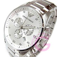 EMPORIO ARMANI ( Emporio Armani ) AR5963 Sport Chronograph stainless steel belt silver mens watch