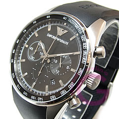 EMPORIO ARMANI ( Emporio Armani ) AR5977 SPORTIVO / スポルティボ chronograph rubber belt watch