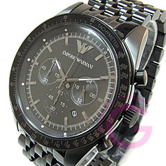 EMPORIO ARMANI ( Emporio Armani ) AR5989 SPORTIVO / スポルティボ chronograph stainless steel belts all black watch