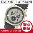 EMPORIO ARMANI (エンポリオ アルマーニ) AR6006 クラシック クロノグラフ ゴールド×シルバー レザーベルト メンズウォッチ 腕時計