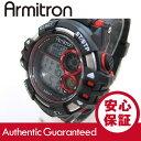 Armitron (アーミトロン) 40-8332RED デジタル ブラック×レッド ラバーベルト メンズウォッチ 腕時計 【あす楽対応】