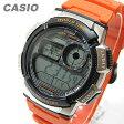 CASIO (カシオ) AE-1000W-4B/AE1000W-4B スポーツ ワールドタイム搭載 オレンジ キッズ・子供 かわいい! メンズウォッチ チープカシオ 腕時計