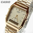 【メール便送料無料】 CASIO カシオ AQ-230GA-9D/AQ230GA-9D アナデジ メタルベルト ゴールド キッズ 子供 かわいい ユニセックス チープカシオ チプカシ 腕時計 【あす楽対応】