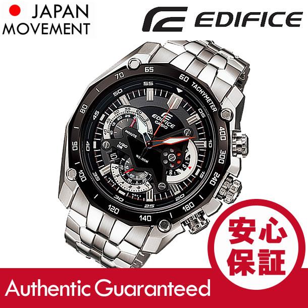CASIO EDIFICE(カシオ エディフィス) EF-550D-1A/EF550D-1A クロノグラフ メタルベルト ブラックダイアル メンズウォッチ 海外モデル 腕時計 【無料ラッピング・1年保証】