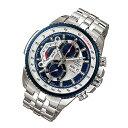 CASIO EDIFICE(カシオ エディフィス) EF-558D-2A/EF558D-2A クロノグラフ メタルベルト シルバー×ブルー メンズウォッチ 海外モデル 腕時計