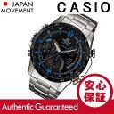 CASIO EDIFICE(カシオ エディフィス) ERA-300DB-1A2/ERA300DB-1A2 アナデジ ツインセンサー メタルベルト ブラックダイアル メンズウォッチ 海外モデル 腕時計